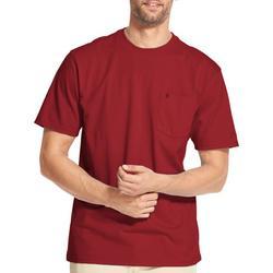 Mens Solid Pocket Short Sleeve T-Shirt