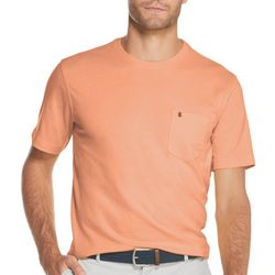 IZOD Mens Solid Soft Pocket Short Sleeve T-Shirt