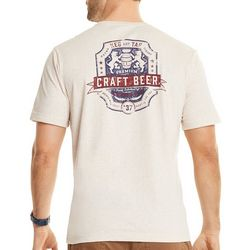 IZOD Mens Craft Beer Short Sleeve T-Shirt