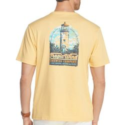 IZOD Mens Tropic Wind Lighthouse Short Sleeve T-Shirt