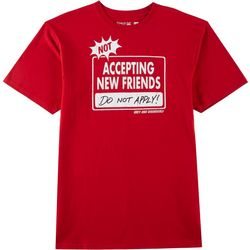 Grey & Disorderly Mens Not Accepting New Friends T-Shirt