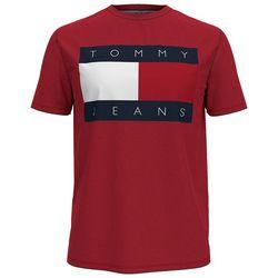 Tommy Hilfiger Mens Flag Logo Solid Short Sleeve Shirt