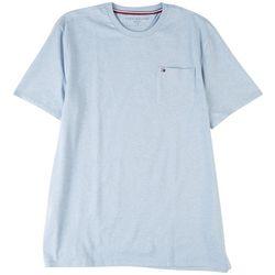 Tommy Hilfiger Mens Basic Heathered Pocket Crew Neck T-Shirt