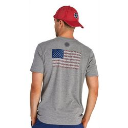 Life Is Good Mens Star Spangled Banner Flag Crusher T-Shirt
