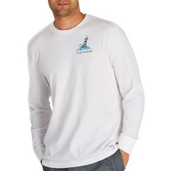Life Is Good Mens Yeah Buoy Crusher Long Sleeve T-Shirt
