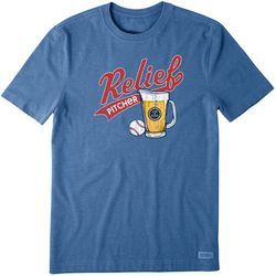 Life Is Good Mens Relief Pitcher T-Shirt