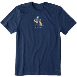 Life Is Good Mens Short Sleeve Good Vibes T-Shirt