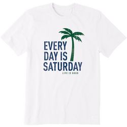 Life Is Good Mens Everyday Is Saturday T-Shirt