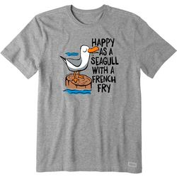 Life Is Good Mens Happy As A Seagull
