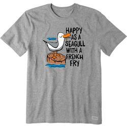 Mens Happy As A Seagull T-Shirt