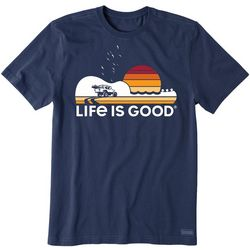 Life Is Good Mens Beach Music Crusher T-Shirt