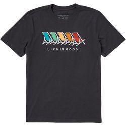 Life Is Good Mens Adironack Chair Spectrum T-Shirt