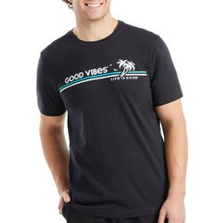 Life Is Good Mens Good Vibes T-Shirt