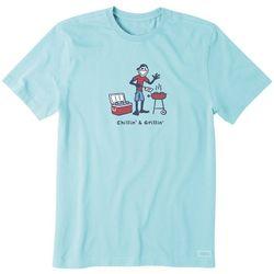 Life Is Good Mens Chillin' & GRillinShort Sleeve T-Shirt
