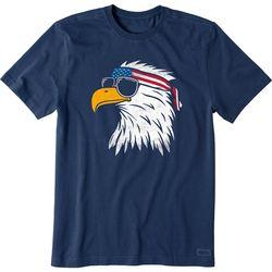 Life Is Good Mens Patriot Eagle Short Sleeve T-Shirt