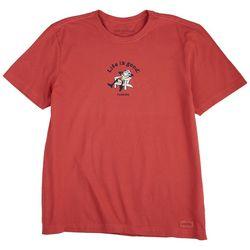 Life Is Good Mens Vintage Adirondack Florida Crusher T-Shirt