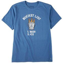 Life Is Good Mens Bucklist 1.Beer 2.Ice T-Shirt