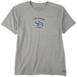 Life Is Good Mens Vintage Cooler Florida Heathered T-Shirt