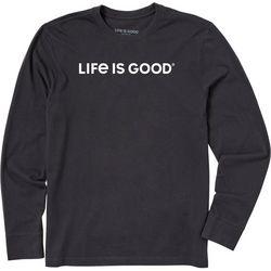 Life Is Good Mens Long Sleeve Wordmark T-Shirt