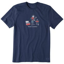 Life Is Good Mens Crusher Chillin' & Grillin' T-Shirt
