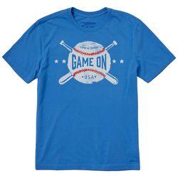 Life Is Good Mens Game On Baseball T-Shirt