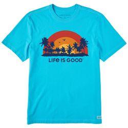 Life Is Good Mens Sunset Palms T-Shirt