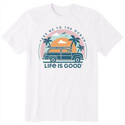 Life Is Good Mens Take Me To The Ocean T-Shirt
