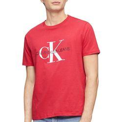 Calvin Klein Mens Monogram Logo Crew Neck T-Shirt