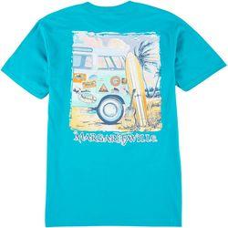 Margaritaville Mens Stickered Bus T-Shirt
