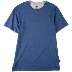 Mens Two Toned Short Sleeve Top