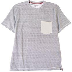 International Report Mens Wavy Stripes Pocket T-Shirt