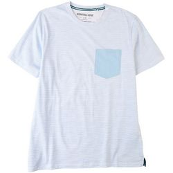 International Report Mens Wavy Striped Pocket T-Shirt