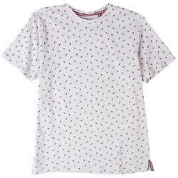International Report Mens Shark Slub Micro Print T-Shirt