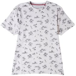 International Report Mens Island Palm Print T-Shirt