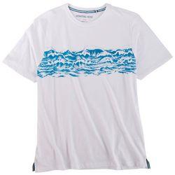 International Report Mens Waves Graphic Chest Print T-Shirt
