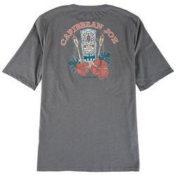 Caribbean Joe Mens Tiki Print Graphic T-Shirt