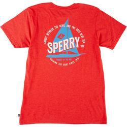Mens Short Sleeve Sailboat Graphic T-Shirt