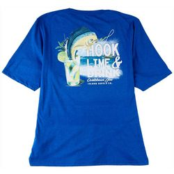 Caribbean Joe Mens Hook Lime & Drink T-Shirt