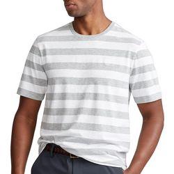 Chaps Mens Heather Stripes Short Sleeve Shirt