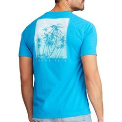 Mens Short Sleeve Palm Tree Graphic T-Shirt