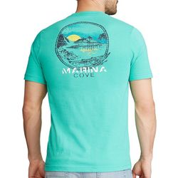 Chaps Mens Short Sleeve Marina Cove Graphic T-Shirt