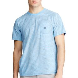 Chaps Mens Striped Short Sleeve Shirt