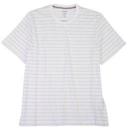 Chaps Mens Striped Knit Short Sleeve Shirt