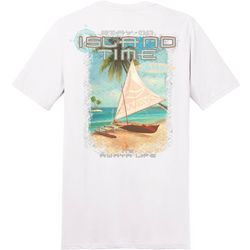 Awayalife Mens Island Time Short Sleeve T-Shirt