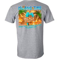 Awayalife Mens Island Time Beach Party Short Sleeve