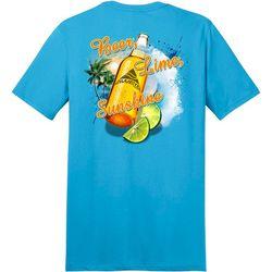 Awayalife Mens Beer Lime Sunshine Short Sleeve T-Shirt