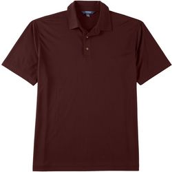 Windham Pointe Mens Window Pane Short Sleeve Polo Shirt