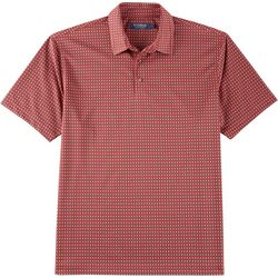 Windham Pointe Mens Window Pane Jacquard Polo Shirt