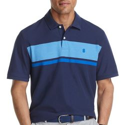 IZOD Mens Advantage Solid Performance Stripe Polo Shirt