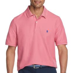 Mens Advantage Solid Logo Polo Shirt